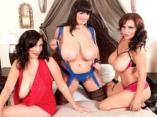 Arianna, Michelle and Lana in Larger than typical Boob Finishing School