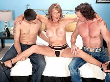 Trisha acquires ass-fucked by two dudes and swallows