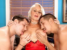 Georgette copulates 2 boyz for the first time on-camera