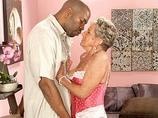 Oldest GILF ever acquires greater than typical, dark cock